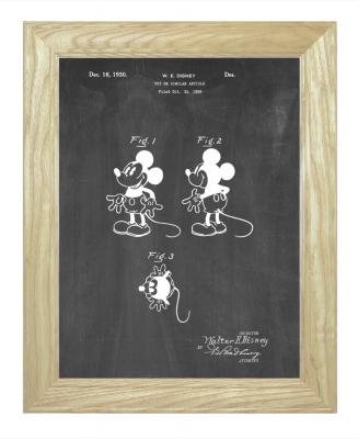 Framed Mickey Mouse Patent Print