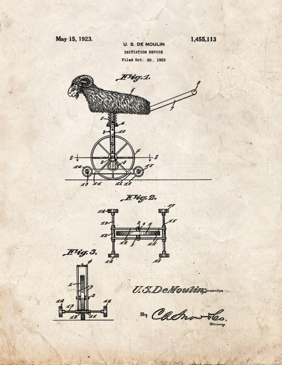 Moulin Magic Initiation Device Patent Print
