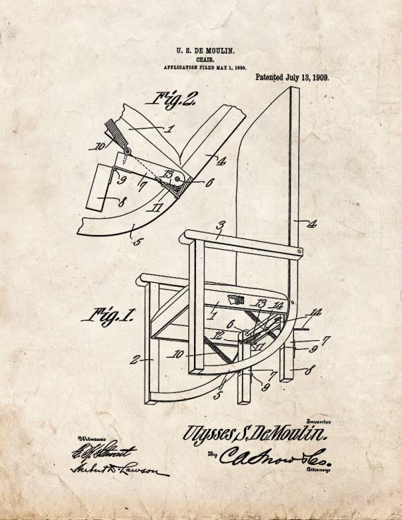 Moulin Magic Chair Patent Print