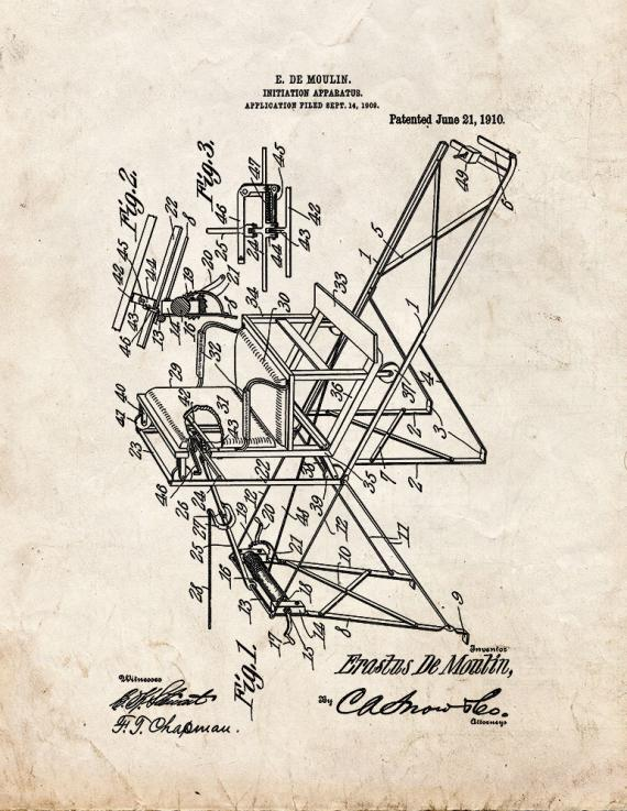 Moulin Magic Initiation Apparatus Patent Print