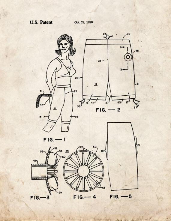 Exercise Pants Patent Print