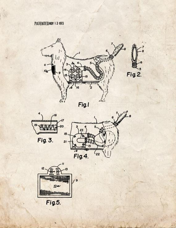 Combination Toy Dog And Vacuum Cleaner Patent Print