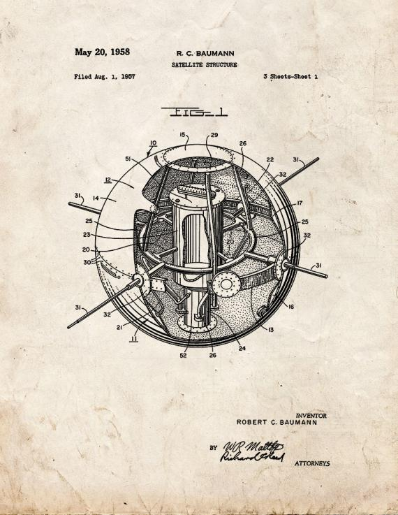 Satellite Structure Patent Print