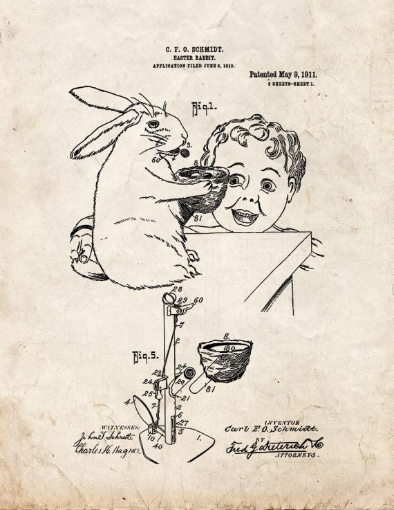 Easter Rabbit Patent Print