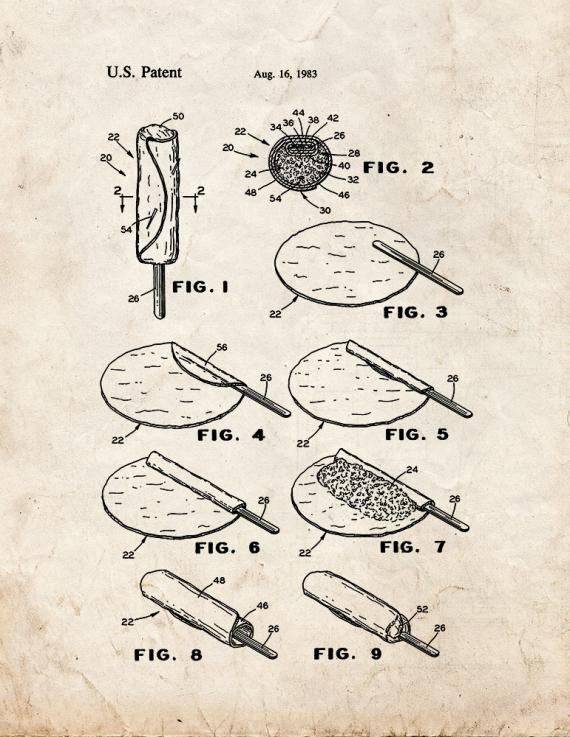 Readily Portable Burrito Patent Print