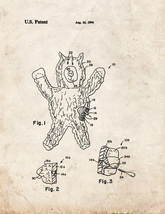 Giant Gummy Bear Patent Print