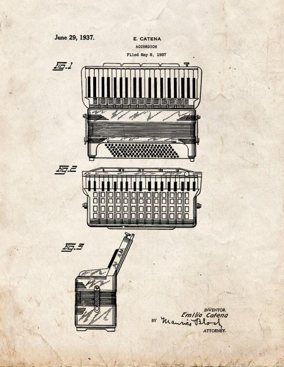 Accordion Patent Print