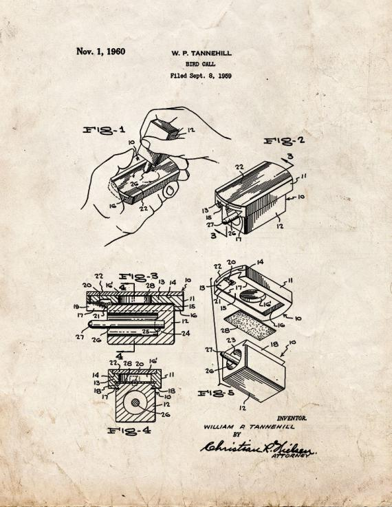 Bird Call Patent Print