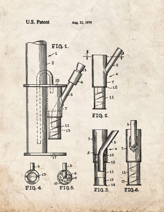 Ash Trap For A Bong Patent Print