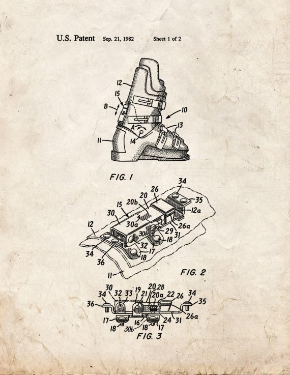 Forward Lean Adjuster For Ski Boots Patent Print
