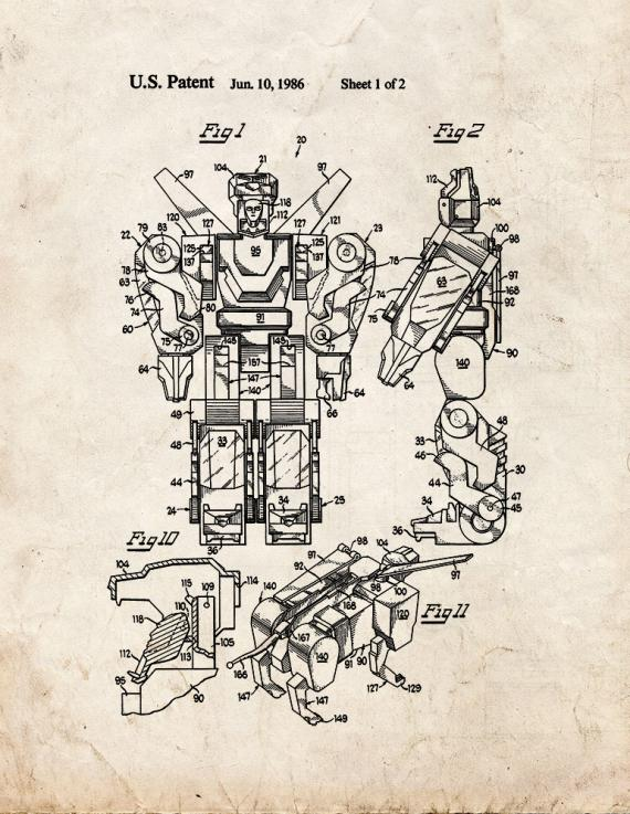 Composite Toy Vehicle Assembly Patent Print