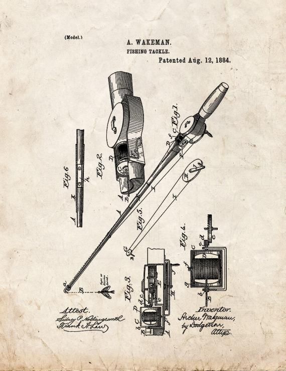 Fishing Tackle Patent Print