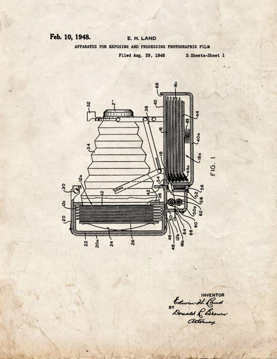 Apparatus For Exposing And Processing Photographic Film Patent Print