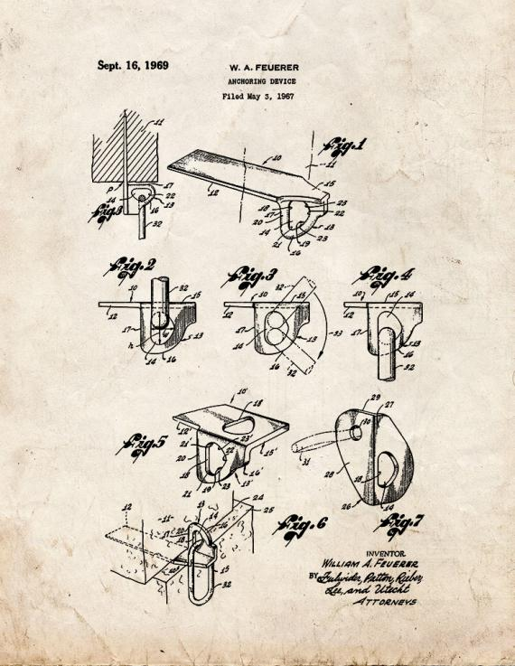 Anchoring Device Patent Print