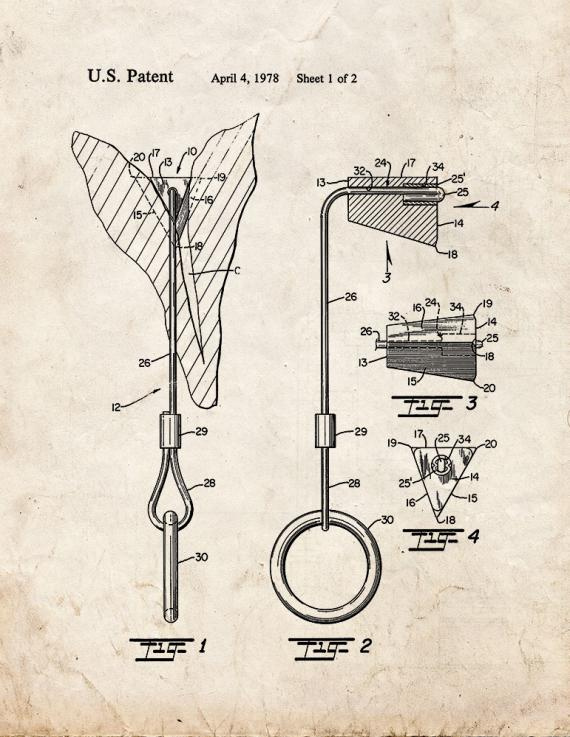 Chock For Mountain Climbing Patent Print