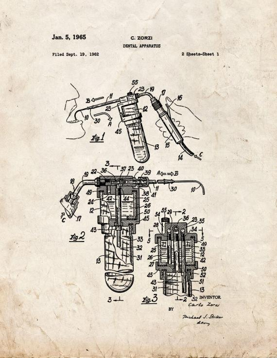 Dental Apparatus Patent Print