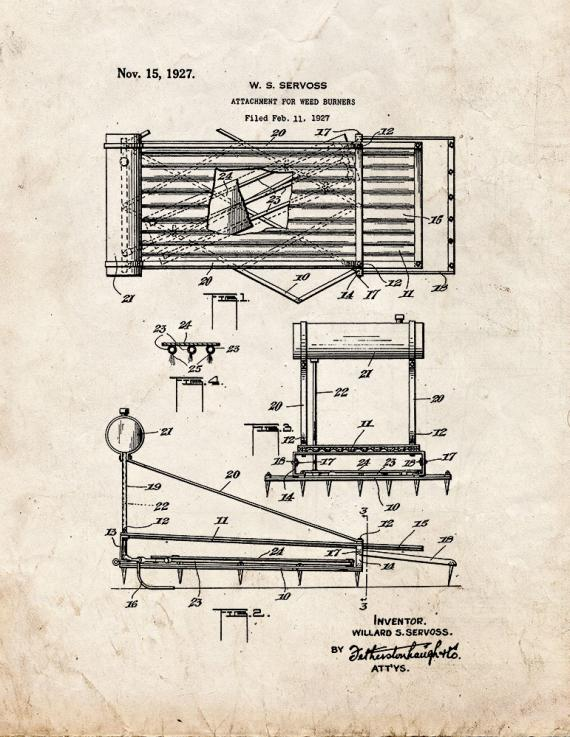 Attachment for Weed Burners Patent Print