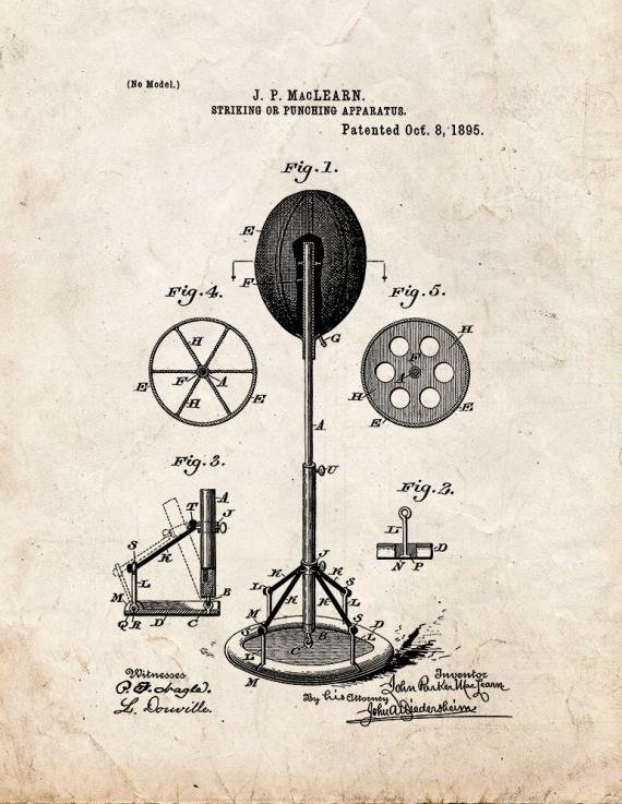 Striking or Punching Apparatus Patent Print