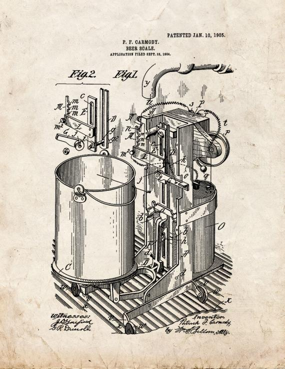 Beer Scale Patent Print