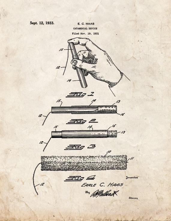 Catamenial Device Patent Print