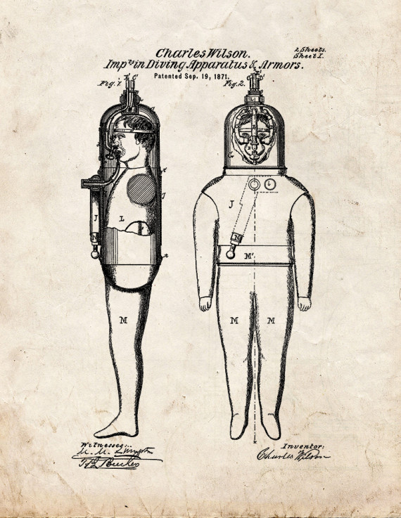 Diving Apparatus Patent Print
