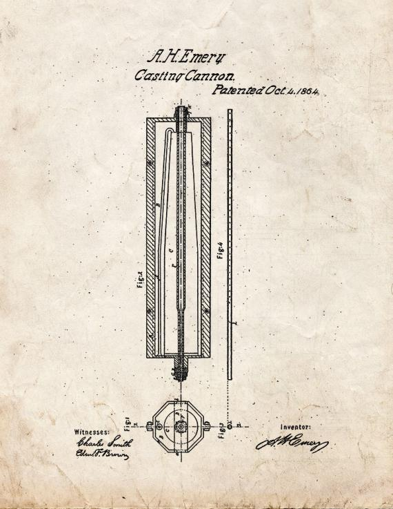 Casting Cannon Patent Print