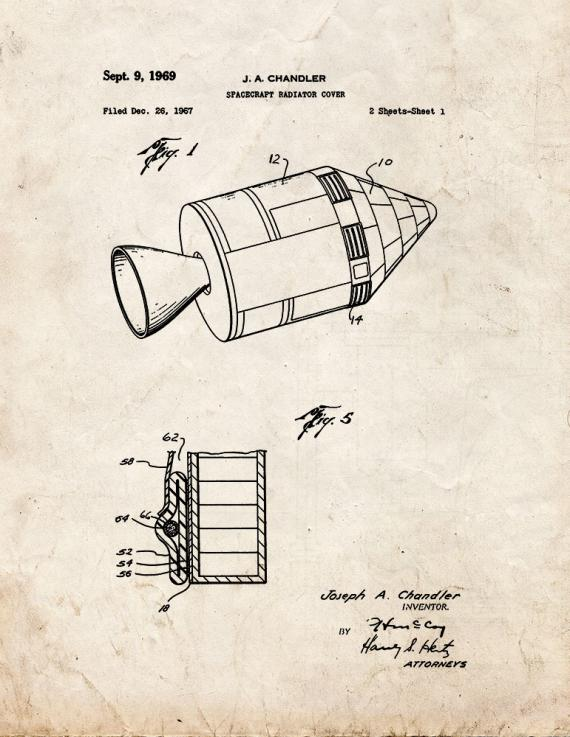 Spacecraft Radiator Cover Patent Print