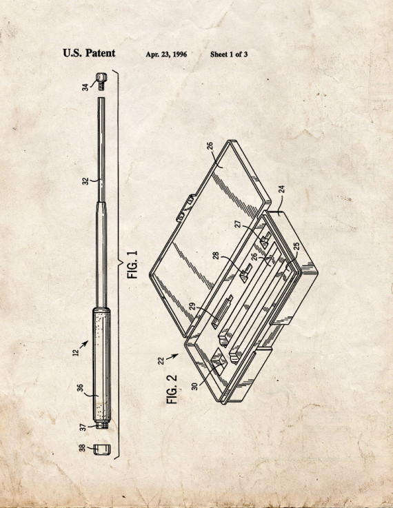 Expandable Baton With Resilient Member Mounted In Tip Patent Print