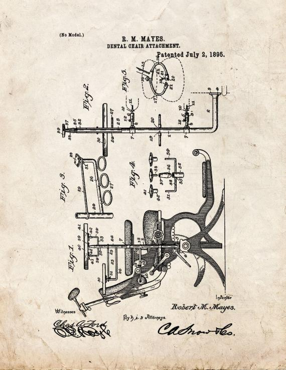 Dental Chair Attachment Patent Print