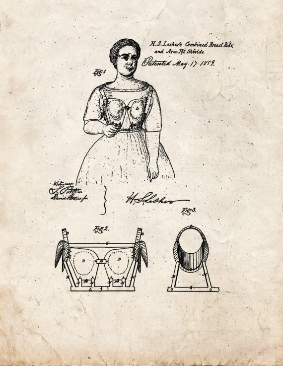 Breast-Pad And Perspiration-Shield Patent Print