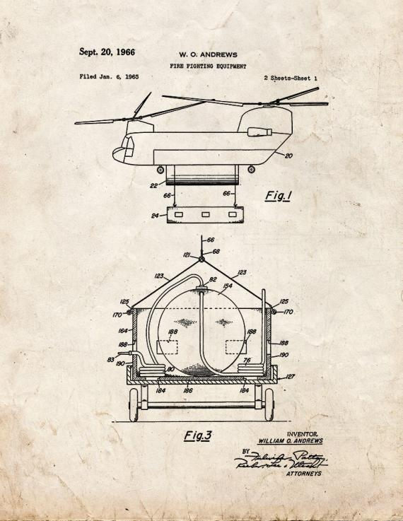 Fire Fighting Equipment Patent Print