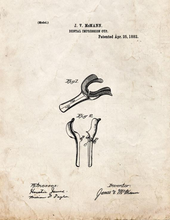 Dental Impression Cup Patent Print