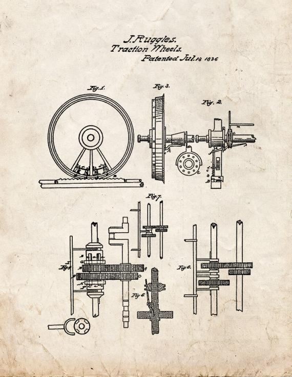 Locomotive Steam-engine For Rail And Other Roads Patent Print