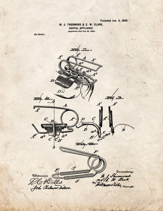 Dental Appliance Patent Print