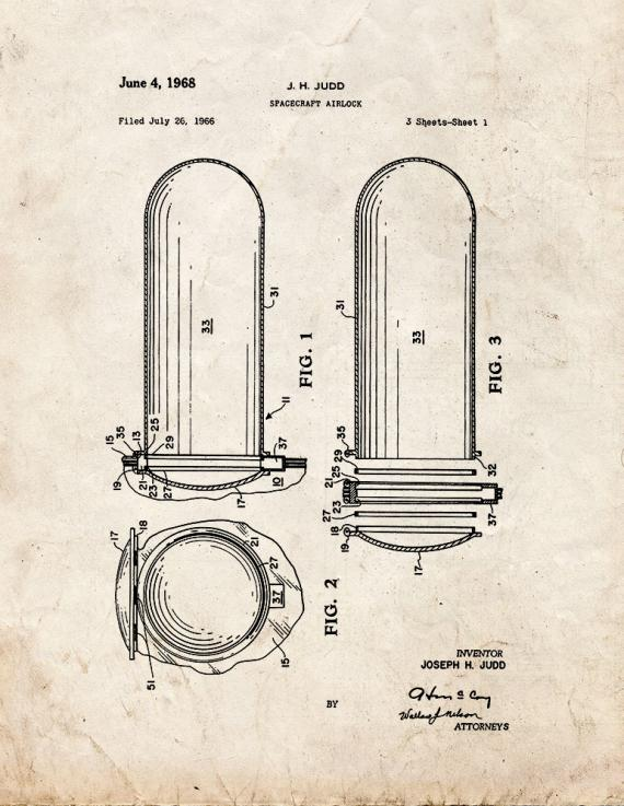 Spacecraft Airlock Patent Print