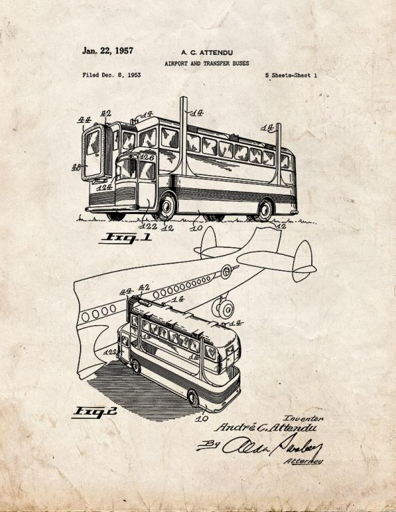 Airport and Transfer Buses Patent Print