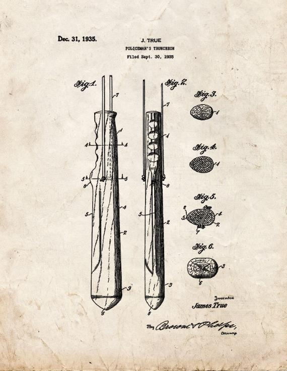 Policeman's Truncheon Patent Print