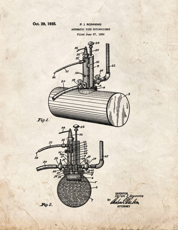 Automatic Fire Extinguisher Patent Print
