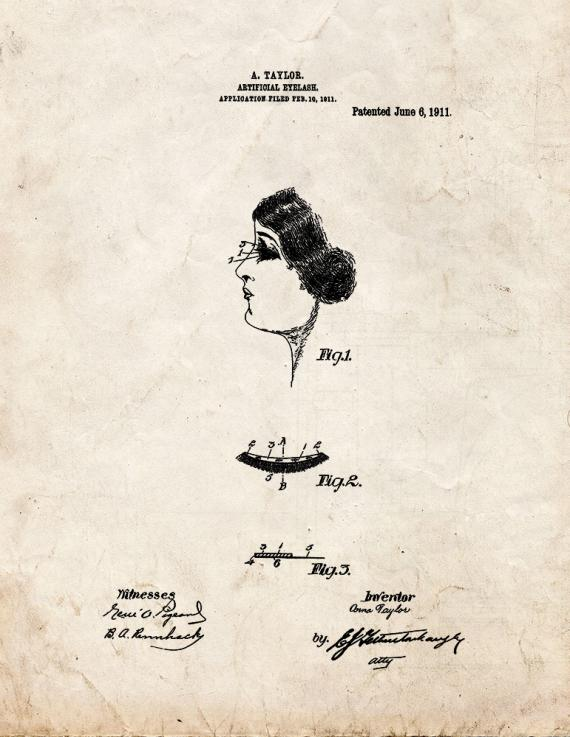 Artificial Eyelash Patent Print