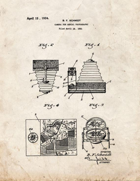Camera for Aerial Photography Patent Print