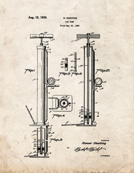 Air Pump Patent Print