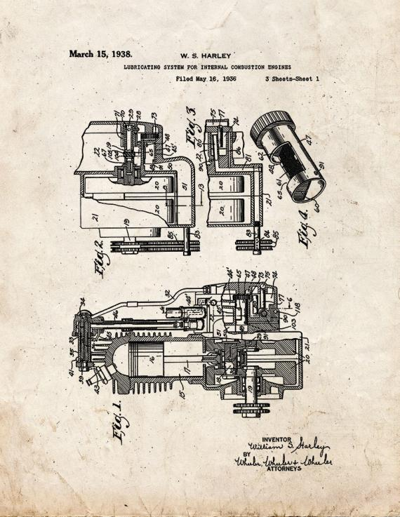 Lubricating System for Internal Combustion Engines Patent Print