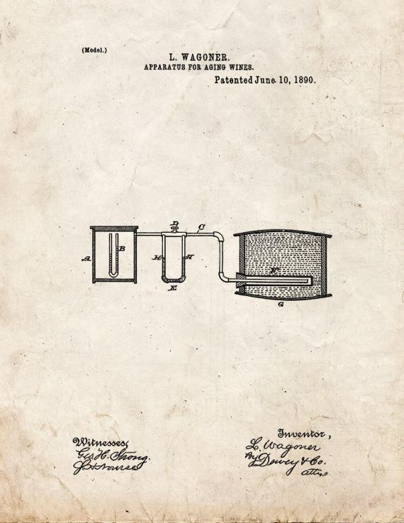 Apparatus For Aging Wines Patent Print