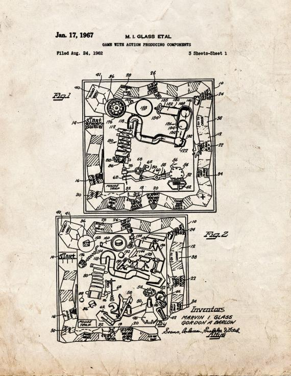 Mousetrap Board Game Patent Print