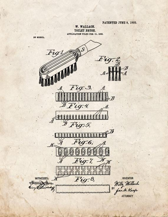 Hair Brush Patent Print