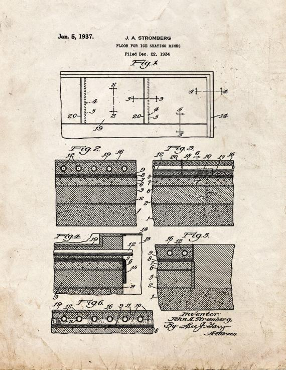 Floor for Ice Skating Rinks Patent Print