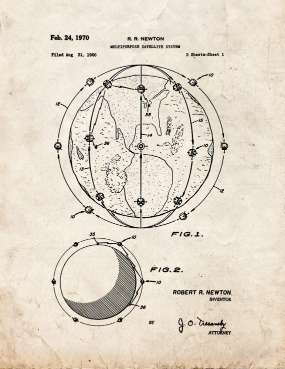 Multipurpose Satellite System Patent Print