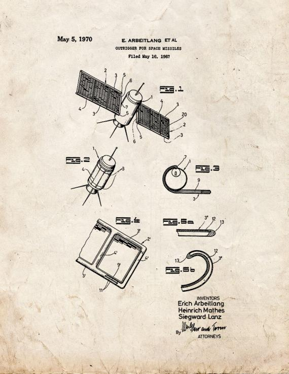 Outrigger for Space Missiles Patent Print
