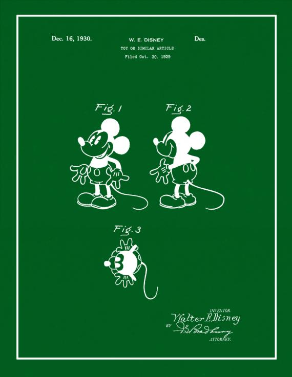 Mickey Mouse Patent Print
